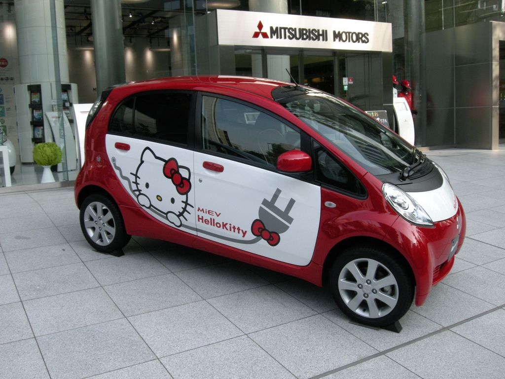 Pink hello kitty mitsubishi i miev cars pinterest pink hello kitty and cars
