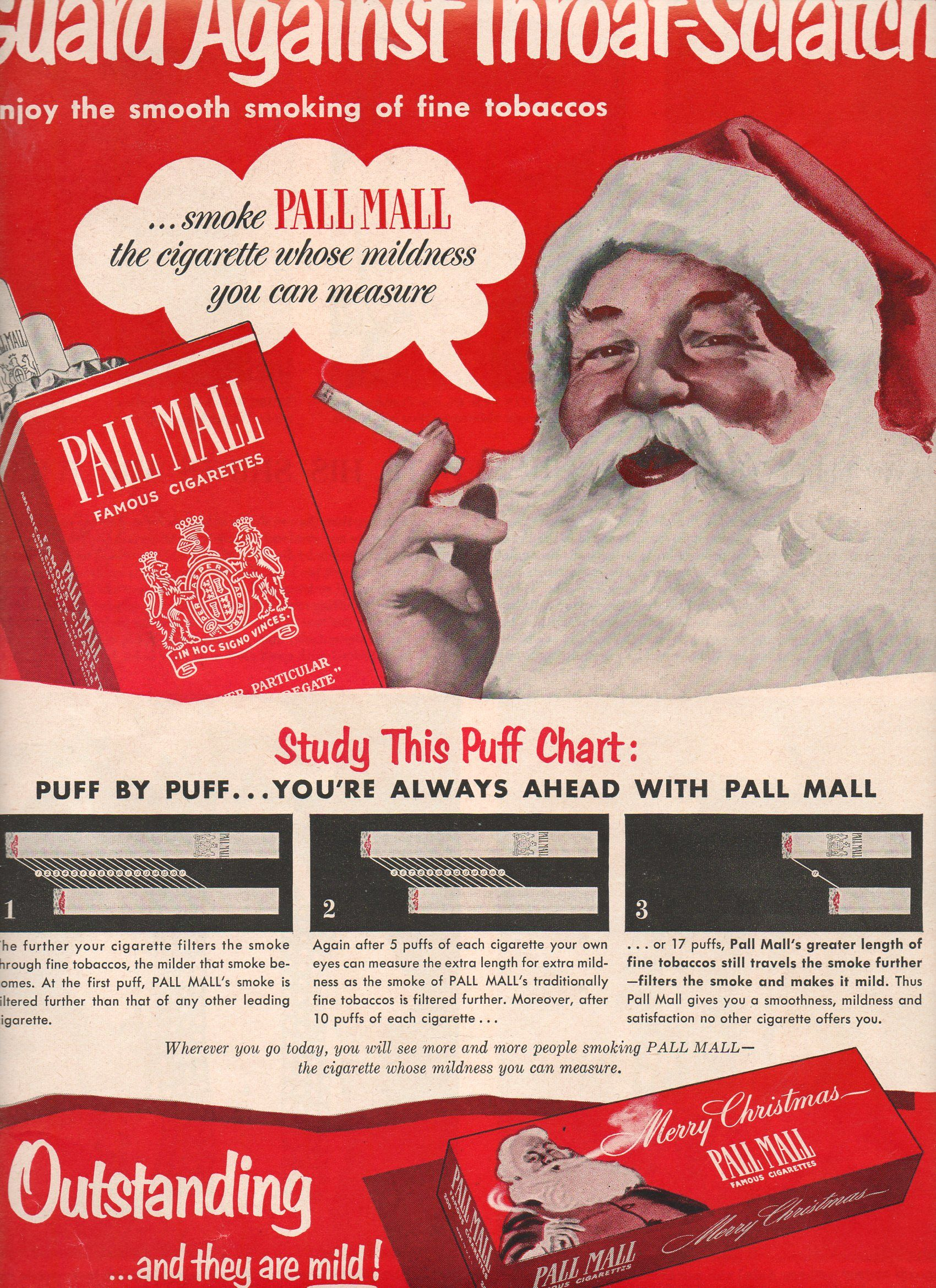 Guard Against Scratchy Throat, Santa! Bring Us Pall Malls!