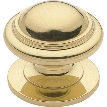 Bouton De Meuble Concave En Laiton Finition Brillant Coloris Jaune