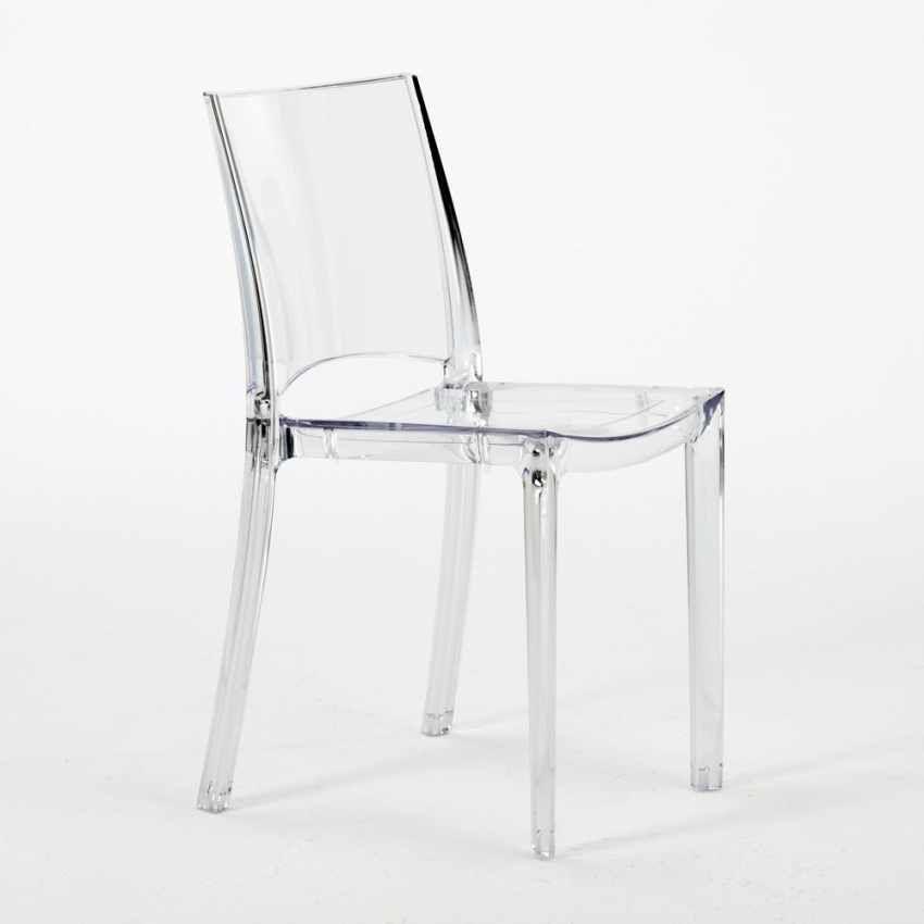 Chaise transparente salle à manger bar empilable B-SIDE Grand Soleil