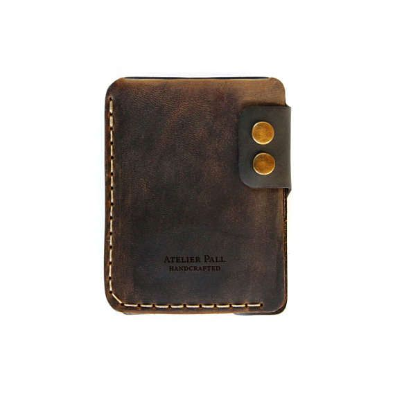 1cc057eefcc0 SALE Mens wallet by AtelierPall handmade women wallet slim cash card wallet  brown and black