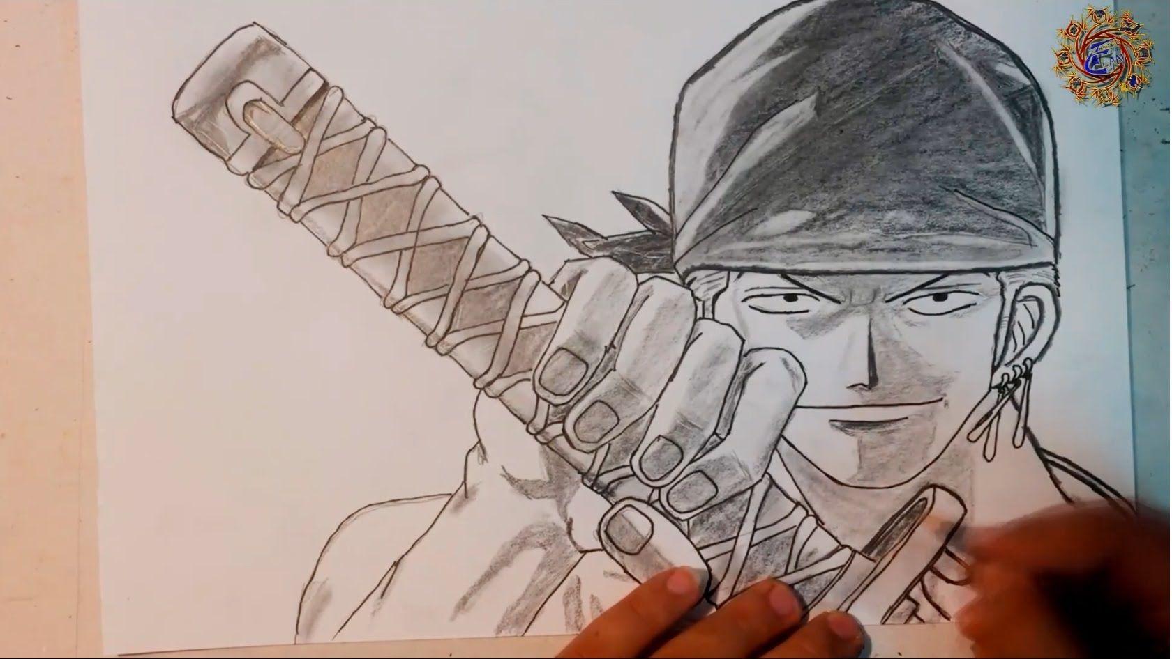 How To Draw Zoro One Piece One Piece Drawing Zoro One Piece Drawings