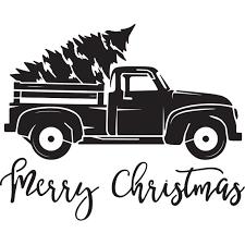 Tis the Season Vintage Truck with Tree Stencil (10 mil plastic)