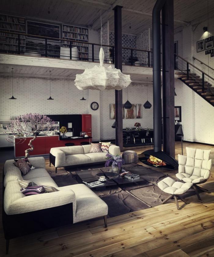 Le garde corps mezzanine - jolies idées pour lofts avec mezzanine ...