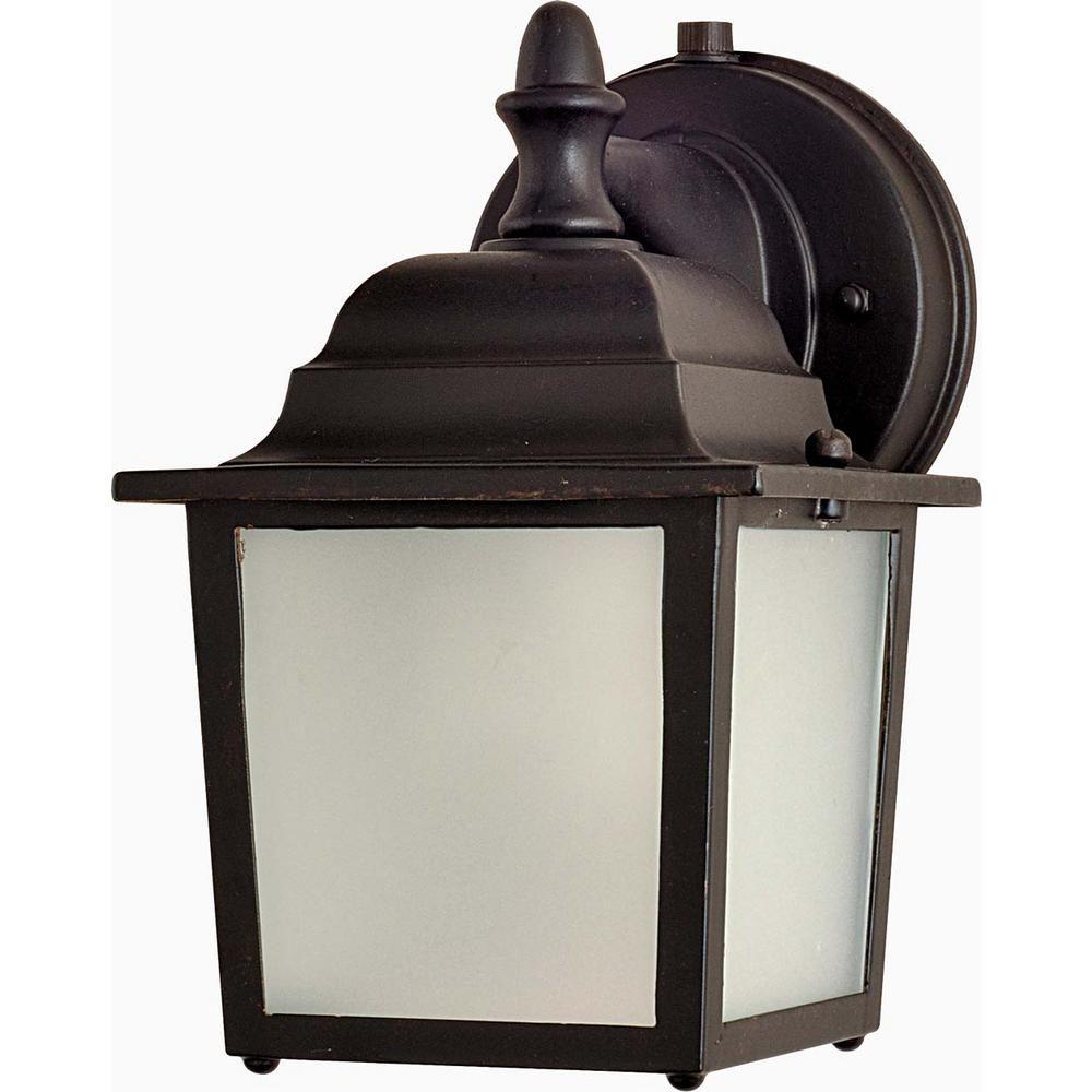 Maxim Lighting Side Door 5 5 In W 1 Light Empire Bronze Outdoor