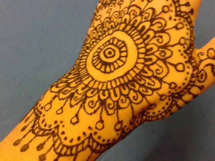 I enjoyed drawing on my hand with Henna