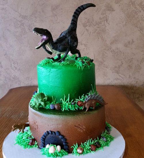 2 Tier Jurrasic Park Cake Dinosaur Birthday Cakes Boy Birthday