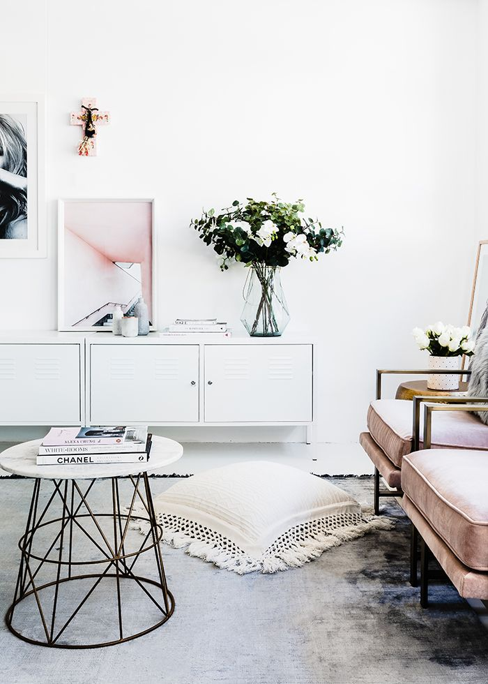 Pure White Walls Contemporary Living Room With Perfect - HomeDecorish