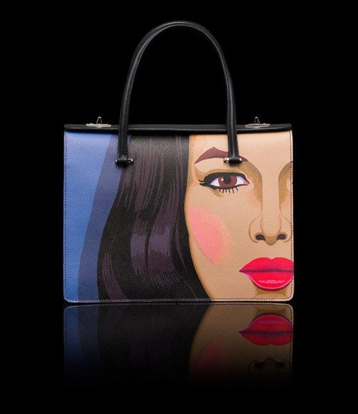 Prada Printed Saffiano Leather Bags