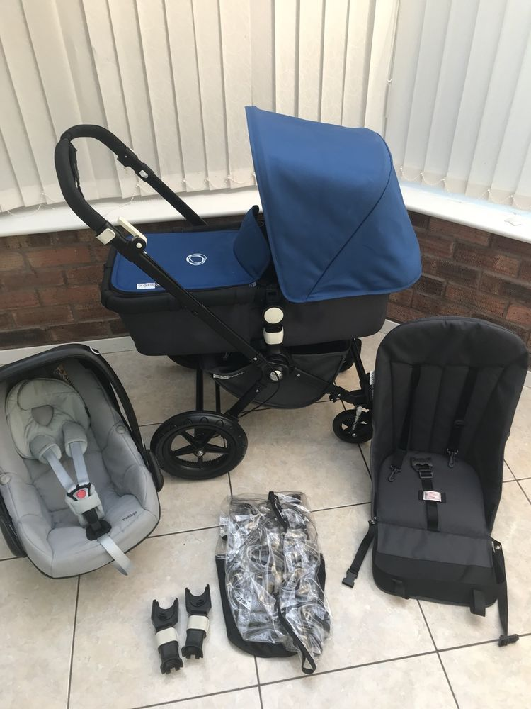Bugaboo Cameleon BLUE With Car Seat POST WITHIN EU