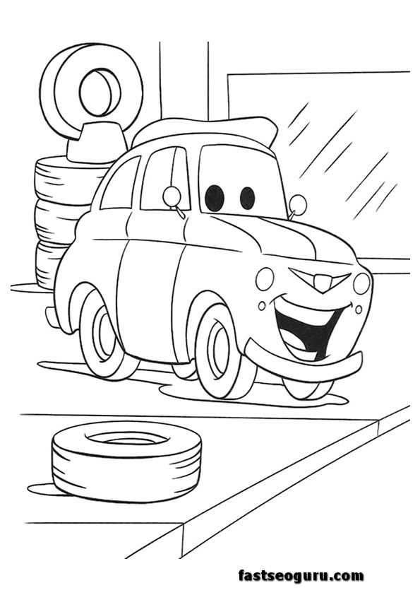 cars 2 printable coloring pages cars 2 luigi printable coloring pages printable coloring pages - Cars 2 Coloring Pages To Print