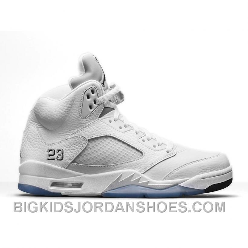 new product 75ca8 5a7ad Buy Authentic Air Jordan 5 Retro White Metallic Silver-Black (Men Women GS  Girls) Christmas Deals from Reliable Authentic Air Jordan 5 Retro  White Metallic ...