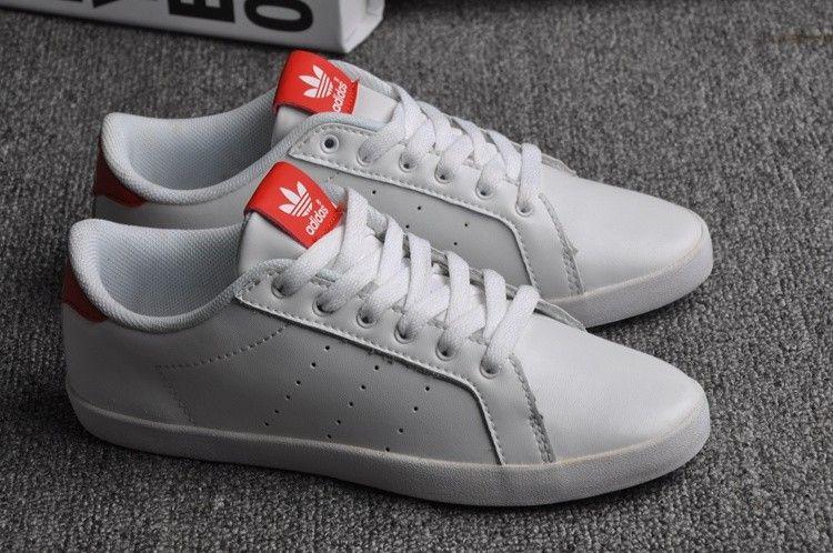 size 40 c432a f4dcb ... cheapest buy soldes une ventilation maximale femme adidas stan smith  blanche rouge chaussures en france lastest