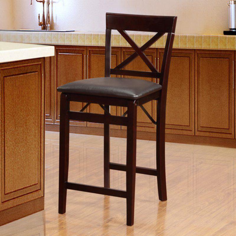 Fabulous Linon Home Triena Cross Back Folding Counter Stool Frankydiablos Diy Chair Ideas Frankydiabloscom