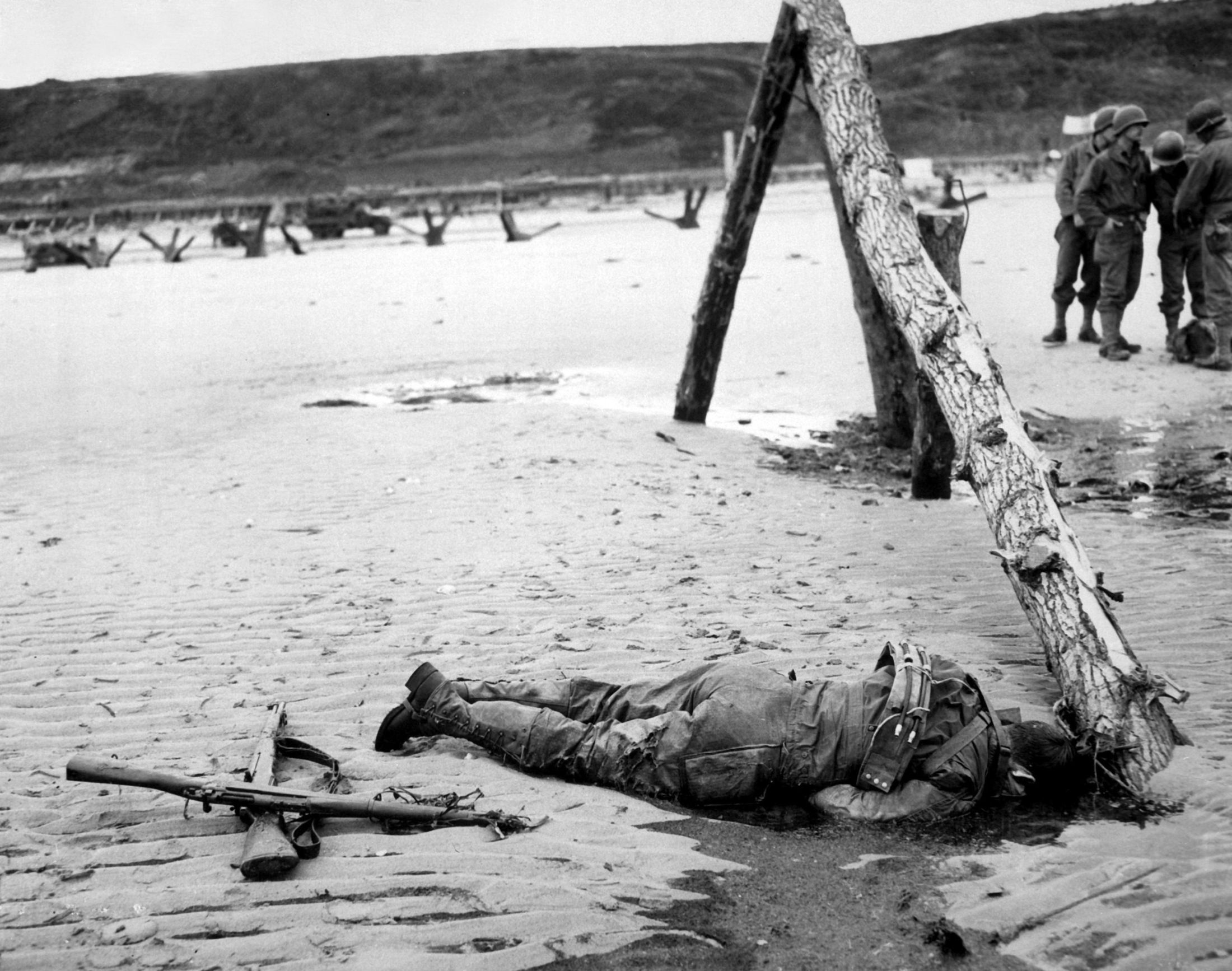 Fallen Soldier, D-Day by  Unknown Artist
