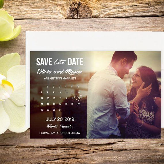 Downloadable Photo Save the Date Calendar, Digital Download, Thank
