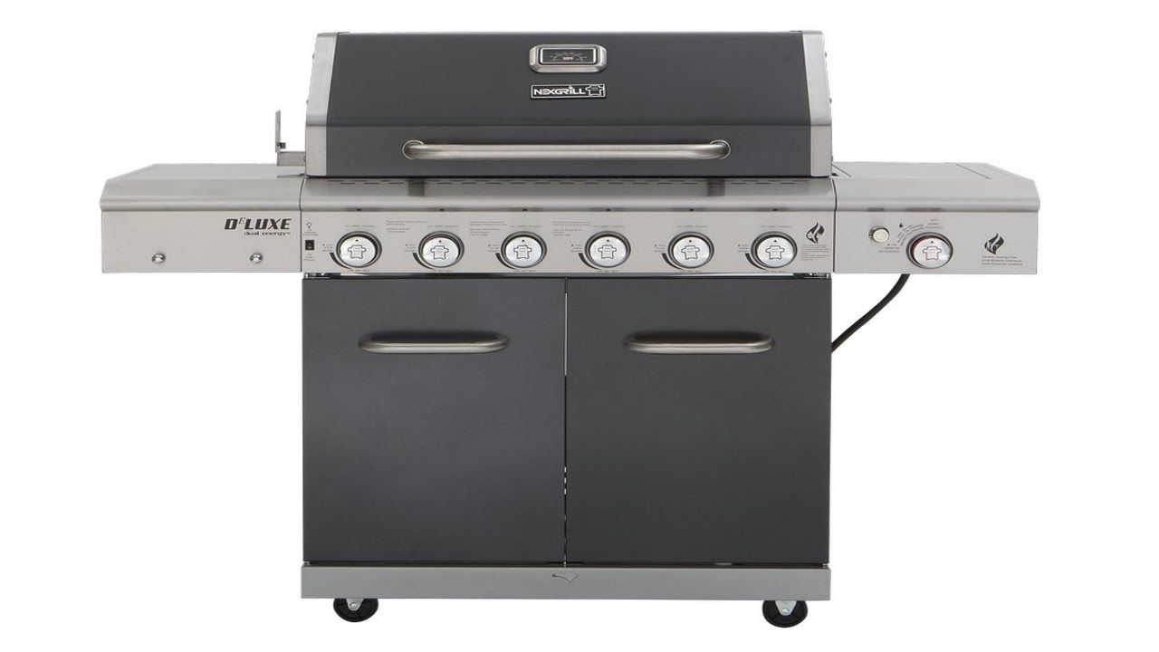 Nexgrill Deluxe 6 Burner Gas Grill Pigskin Barbeque Grilling Propane Gas Grill Gas Grill