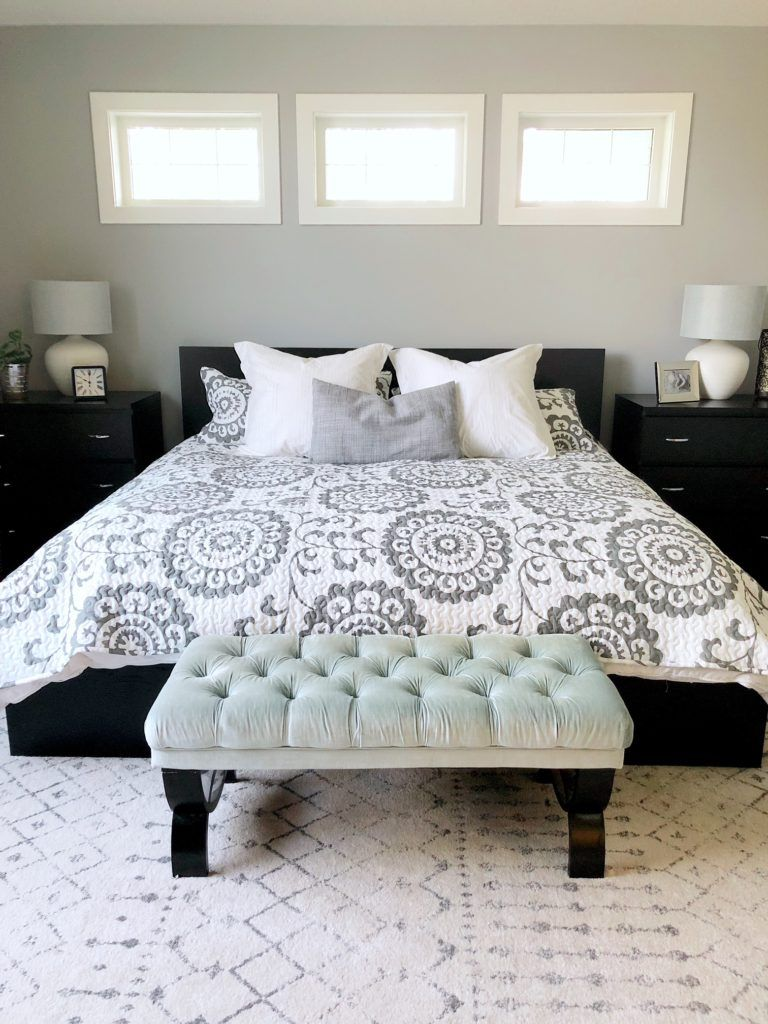 Best Neutral Farmhouse Style Master Bedroom With Black Bed And 640 x 480