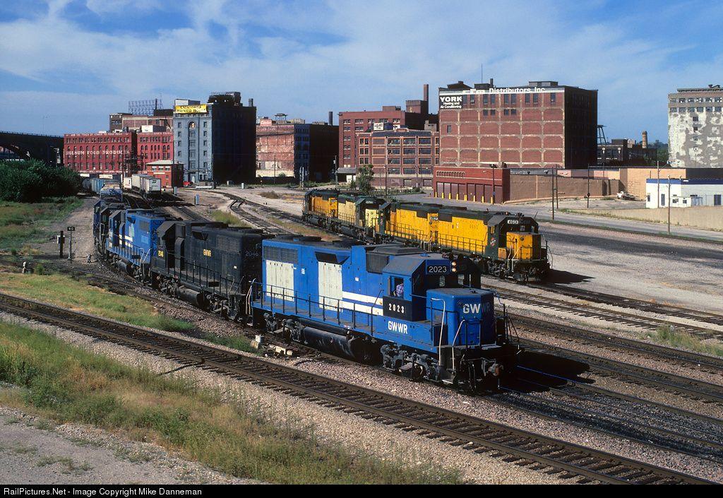 RailPictures.Net Photo: GWWR 2023 Gateway Western Railway EMD GP38 at Kansas City, Missouri by Mike Danneman