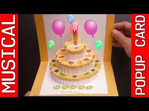 Birthday Cake Pop Up Card Happy Birthday Kirigami Free Template Youtube Birthday Cake Pops Happy Birthday Cakes Birthday Cake Card