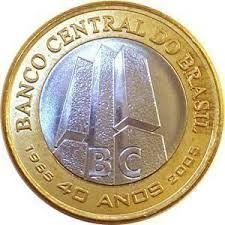 Moeda De 1 Real Moeda Comemorativa Dos 40 Anos Dos Do Banco