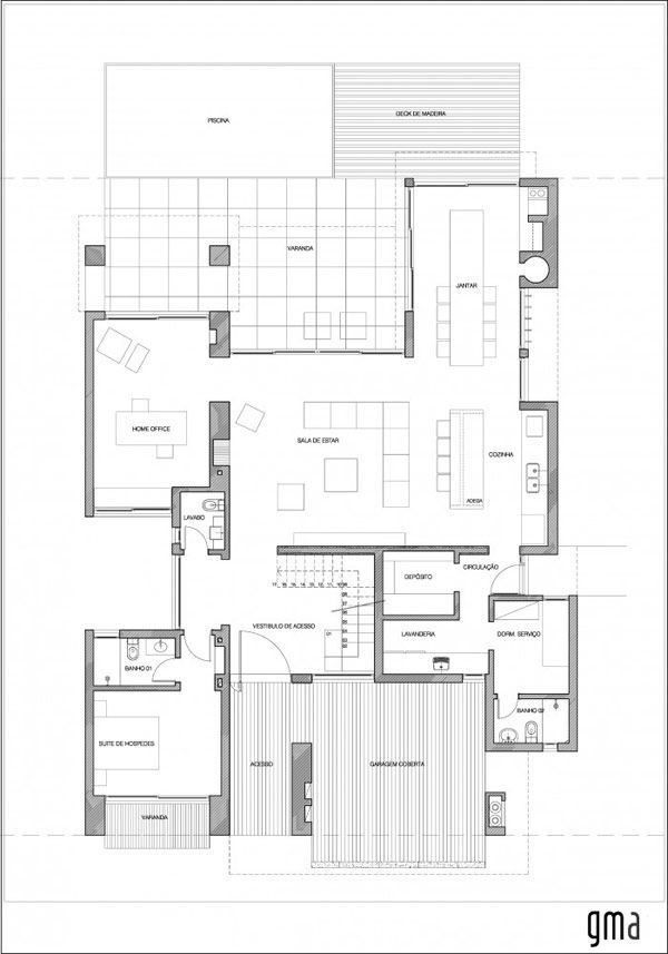 modern home plans 1 brick defined contemporary residence in brazil casa ckn - Modern Home Plans