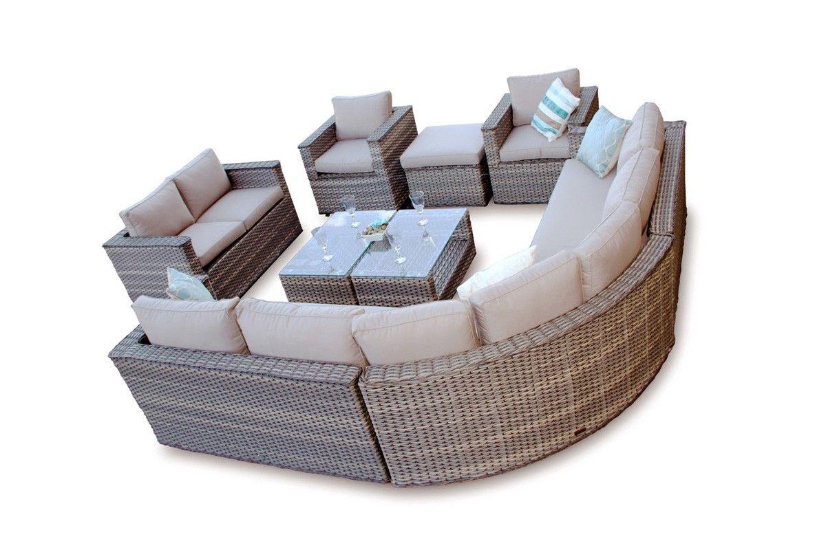 Brantwood Rattan Corner Sofa Dining Modular Furniture Set