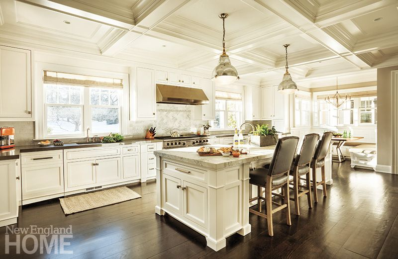Contemporary hardware and materials update the classic white ...