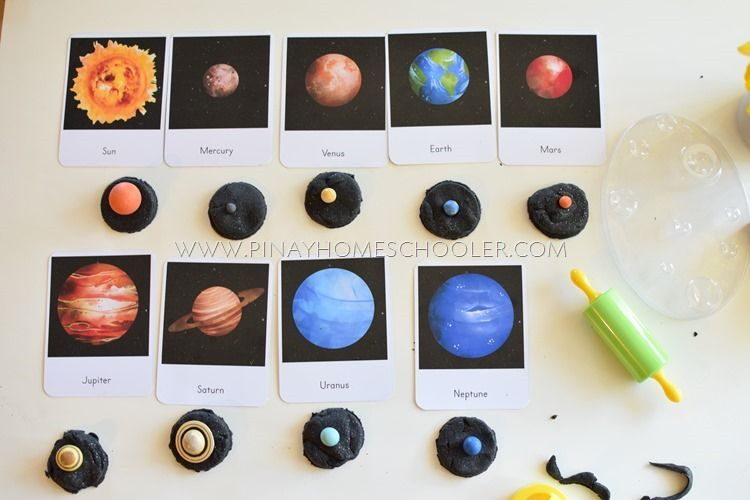 Photo of Planets and Solar System Montessori 3 Part Cards and Facts