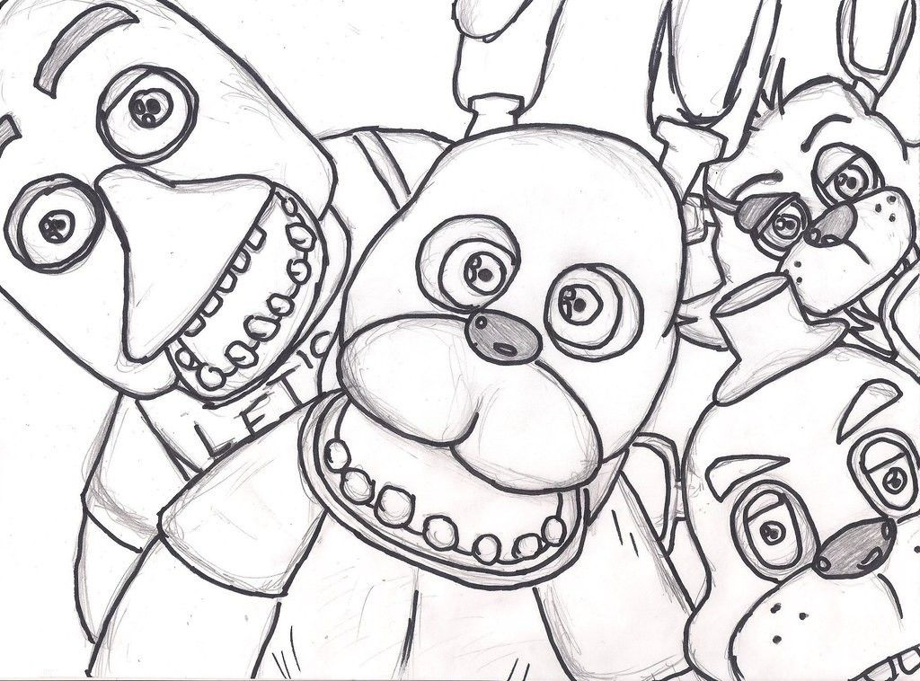 fnaf 3 coloring pages - photo#26