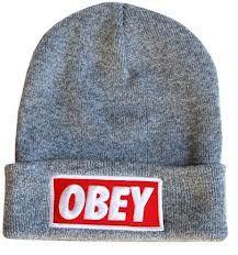 9f54587cea6c0 Grey OBEY beanie
