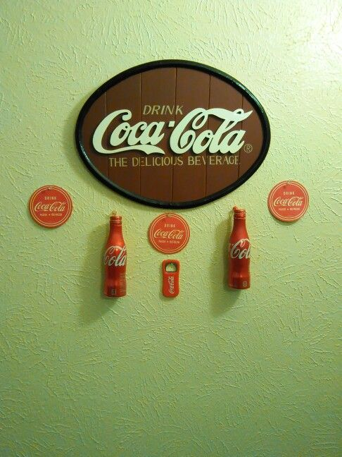 This is my Coca Cola wall