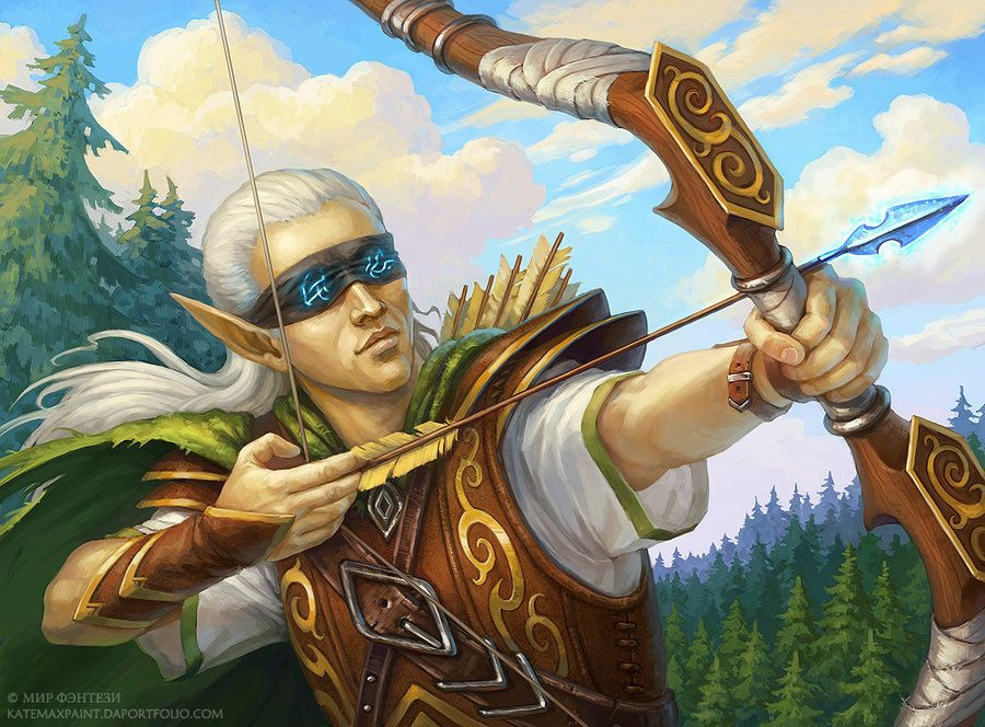 Blind archer by KateMaxpaint on deviantART | Character art, Dungeons and  dragons art, Character illustration
