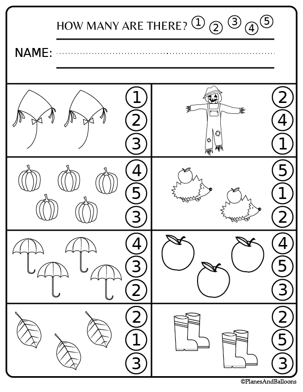 Preschool worksheets and activities for fall FREE ...
