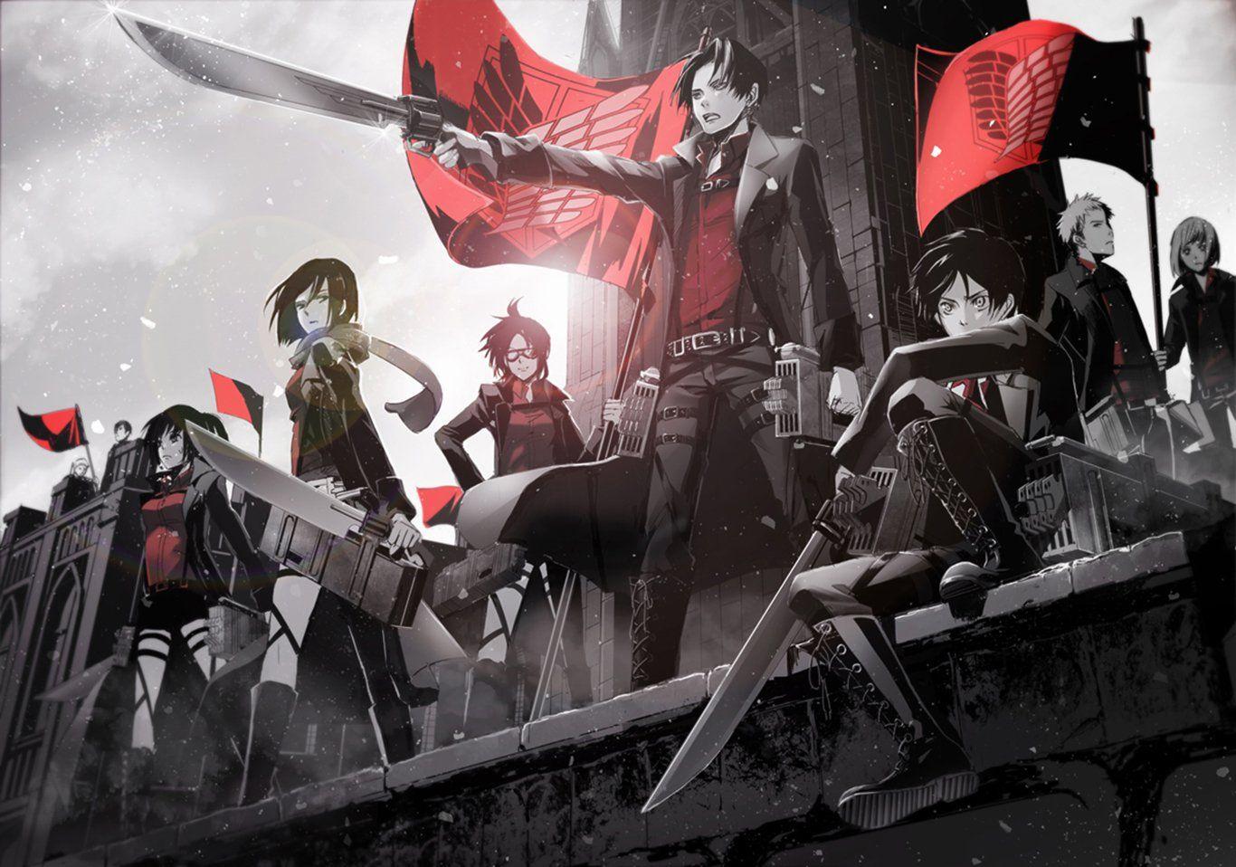 Anime Attack On Titan Mikasa Ackerman Eren Yeager Levi Ackerman Hange Zoe Sasha Blouse Petra Ral Jea Attack On Titan Anime Attack On Titan Attack On Titan Art