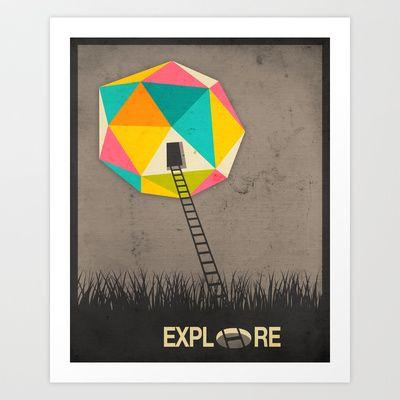 EXPLORE #4 Art Print by Jazzberry Blue - $19.00