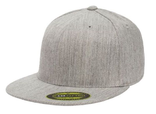 Big Size 2XL Gray Premium Flat Bill FlexFit®  0b8eca55e9d4