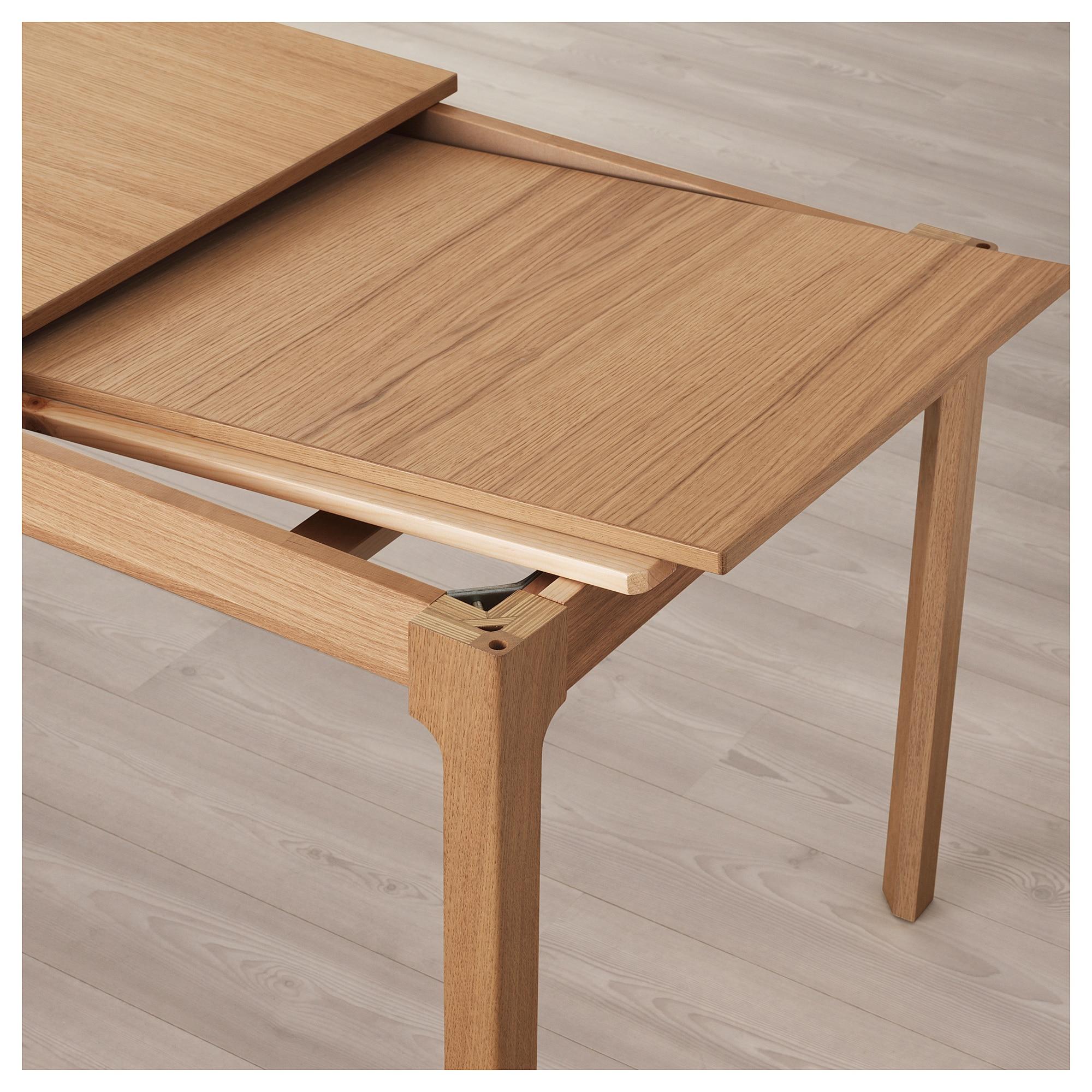 Table Carree Extensible Ikea.Ekedalen Extendable Table Oak Ikea Ikea Extendable Table