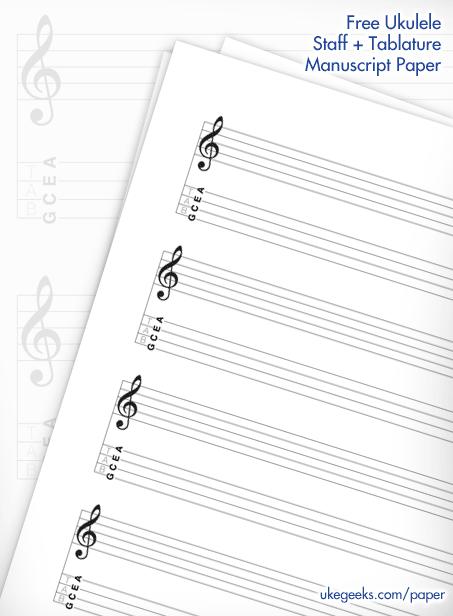 Free Blank Uke Staff & Tablature paper.... (click