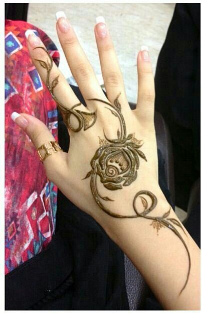 Simple Rose Henna Mehndi Hennaart Hennadesign Tattoo Art Artist Khaleeji Latest Henna Designs Henna Patterns Henna