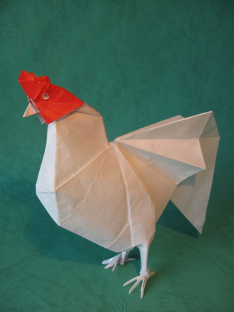 Rooster yoo tae yong by mariano27 august 2016 origami cuttings jeuxipadfo Image collections