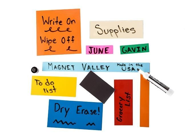 "2"" x 3.5"" Dry Erase Shelf Labels White and Colors"