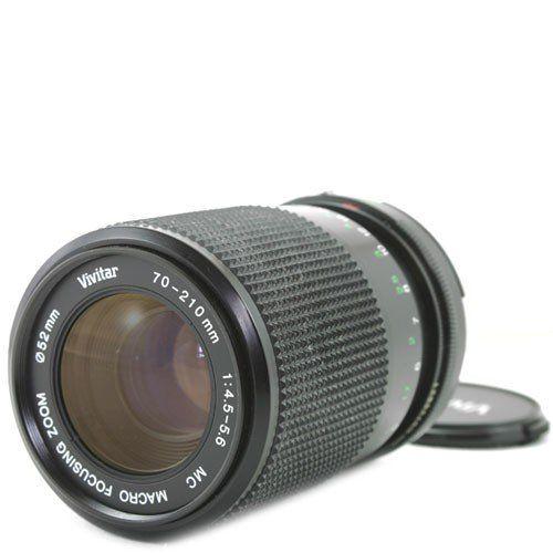 Vivitar Zoom Telephoto 70-210mm f/4.5-5.6 Autofocus Lens for Nikon AF SLR Camera   $ 99.95  #SLRLenses                      Price :                SLR Lenses Product FeaturesFor Nikon SLR CameraLens Hood IncludedMade in Japan    SLR Lenses Product DescriptionVivitar Zoom Telephoto 70-210mm f/4.5-5.6 Auto ...