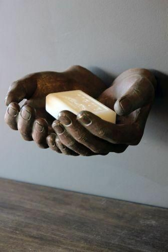 Wall Mounted Giving Hands - Bronze Style