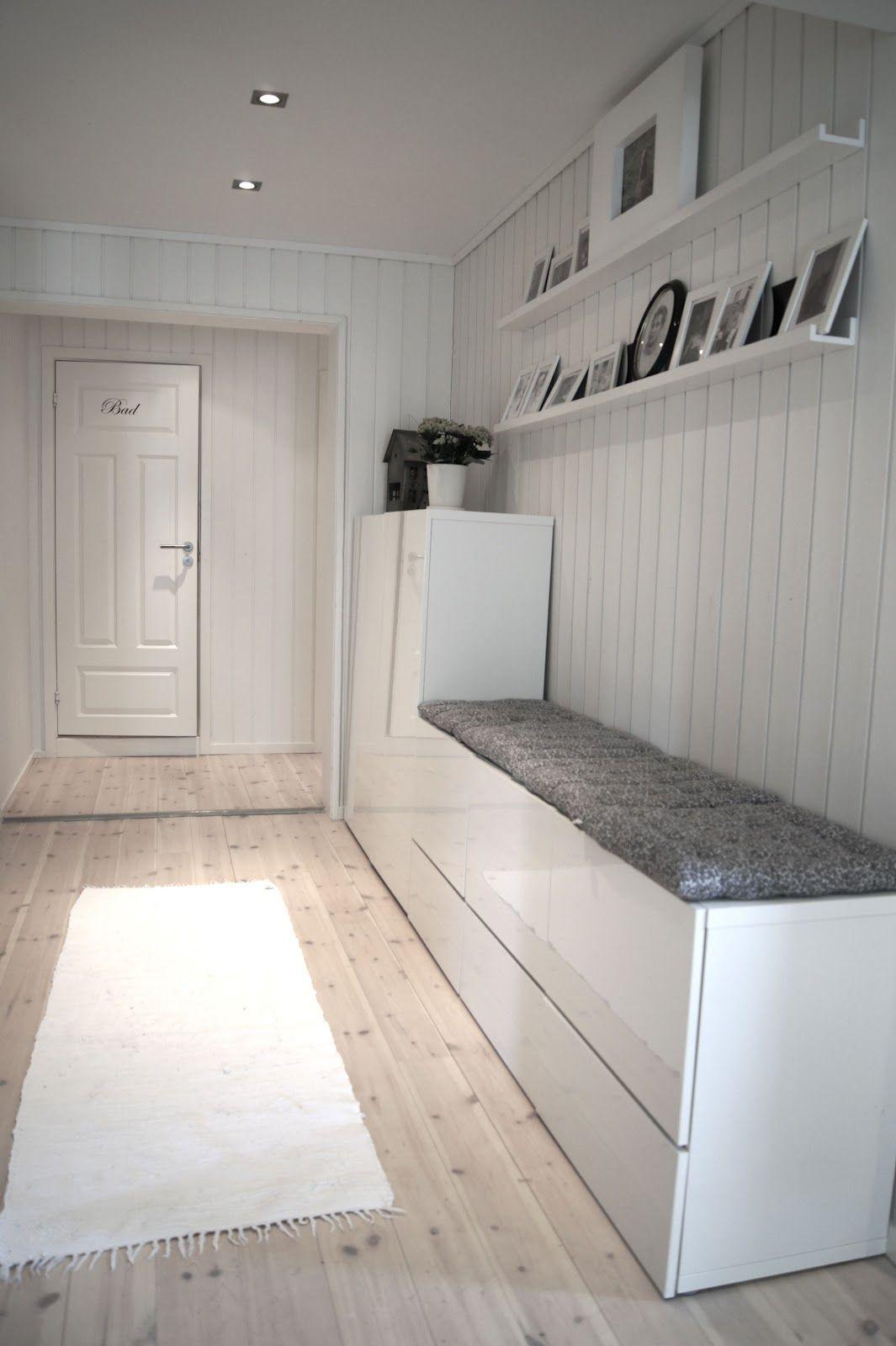 glad i hvitt forandringer i gangen style pinterest hall ikea hack and interiors. Black Bedroom Furniture Sets. Home Design Ideas