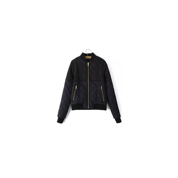Women's Jackets - Leather, Winter, Denim & Bomber Jackets | Romwe.com ❤ liked on Polyvore featuring outerwear, jackets, denim leather jacket, leather bomber jacket, denim bomber jacket, leather flight jacket and leather jackets