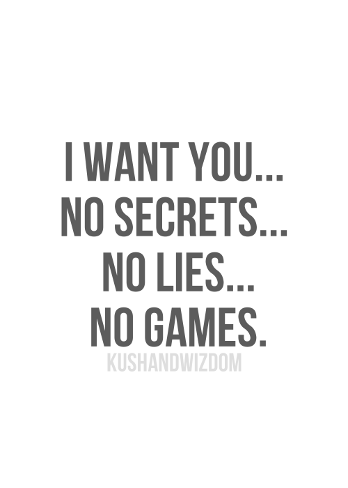 Image result for no secrets no lies