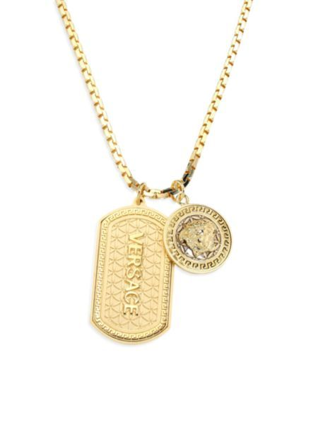 3230814fb7c392 Versace - Gold Medusa Dog Tag Necklace | Clothings | Gold necklace ...