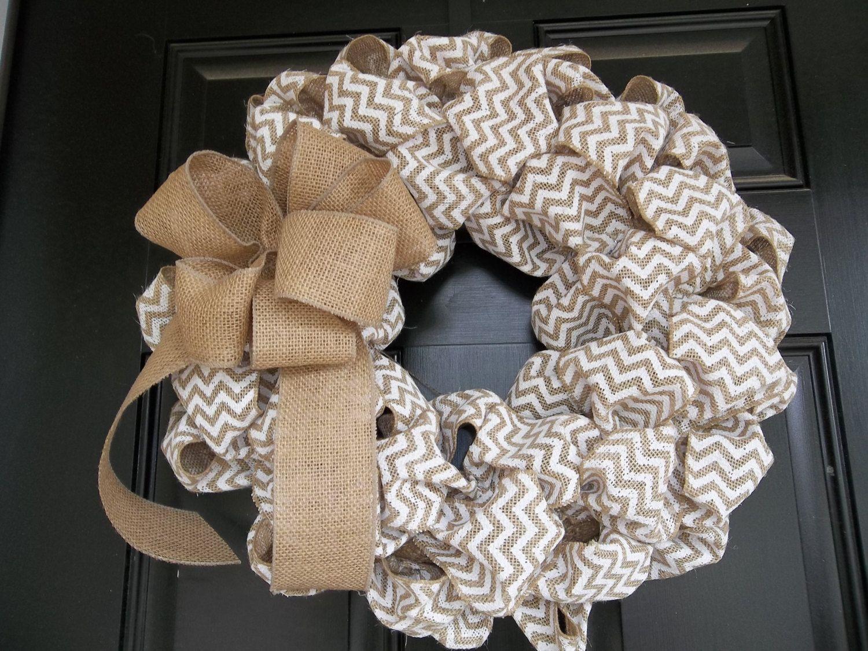 78 best Wreath - Burlap images on Pinterest   Wreath burlap ...