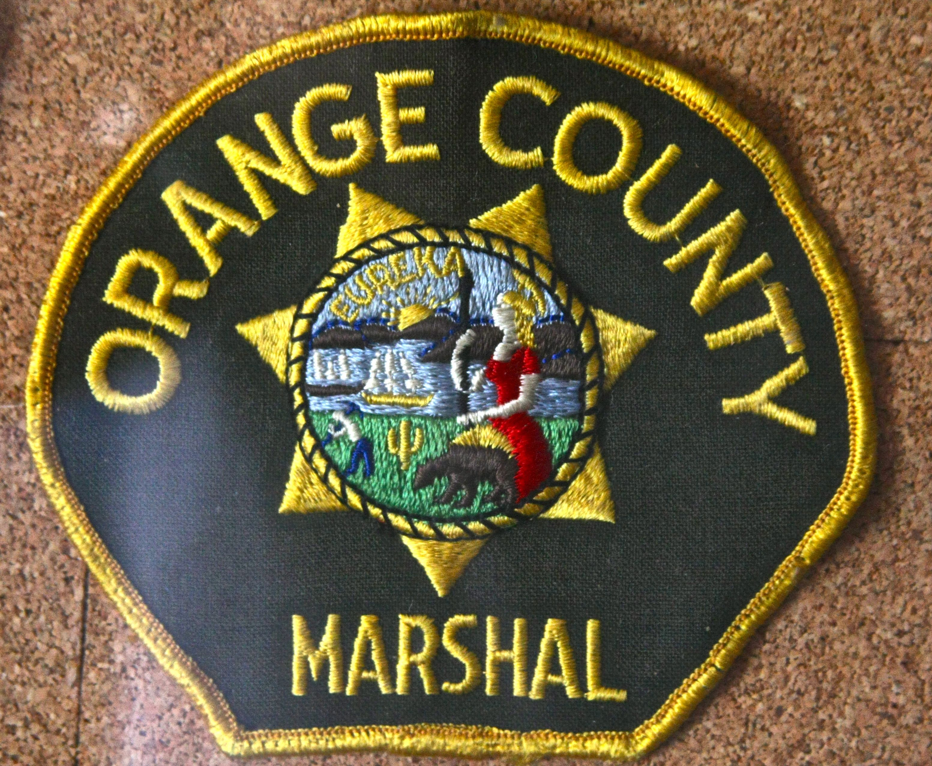 Orange County California Marshall S Office Taken Over By Orange County Sheriff S Department In The Mid 80s Police Patches Police Badge Law Enforcement